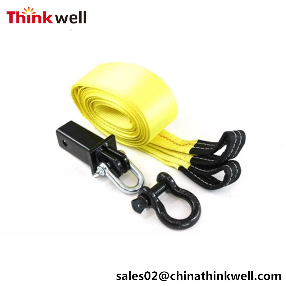 Recovery Kit 30' 10000lbs Tow Winch Strap with Hooks