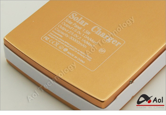 High Capacity Solar Charger And Battery 30000mah Solar