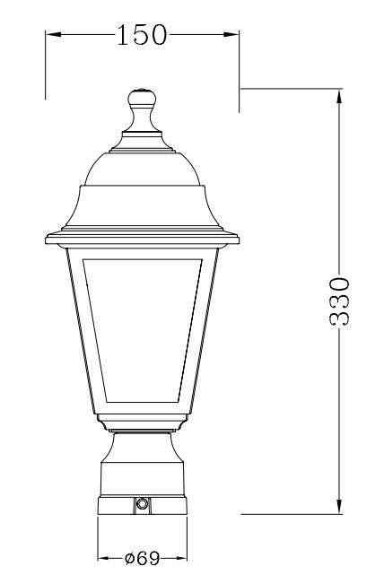 Outdoor Gate Pillar Light,Classic Plastic Garden Light,4pcs ...