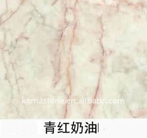 Green Pink Cream Marble Verdant & Red Cream