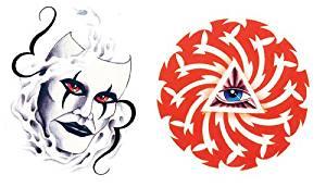 GIANT Mask and Pyramid Eye Temporary Tattoo