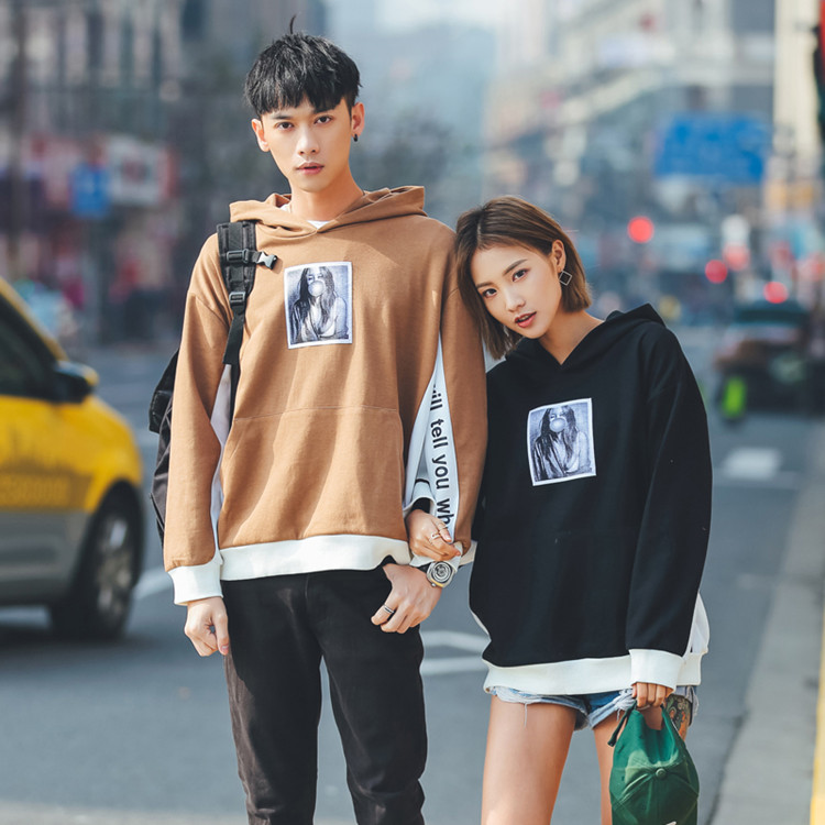 2017 Hot Selling Streetwear High Quality Cotton Two Tone Hoodies Custom Printed Mens Oversized Hoodies