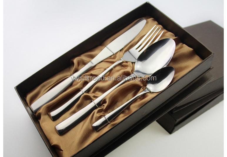 Stainless Spoon And Fork 24 Pcs Cutlery <strong>Set</strong> With Gift Box