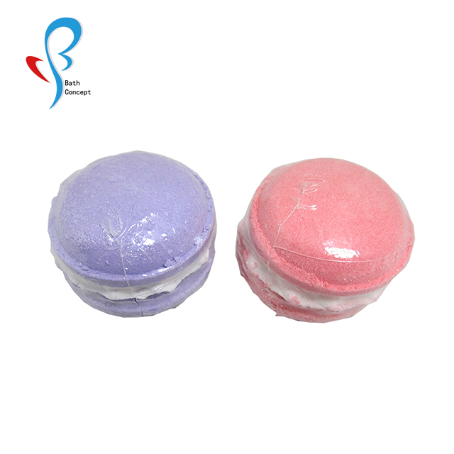 Macaron shape cute for kids bath bomb