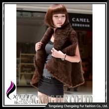 CX-G-B-30 Wholesale Real Fashion Knitted Mink Fur Sleeveless Vest