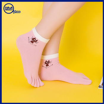 Yhao  Socks Wholesale Girls Teen Ankle Socks Women Cotton Five Toes Socks Factory Wholesale Supply