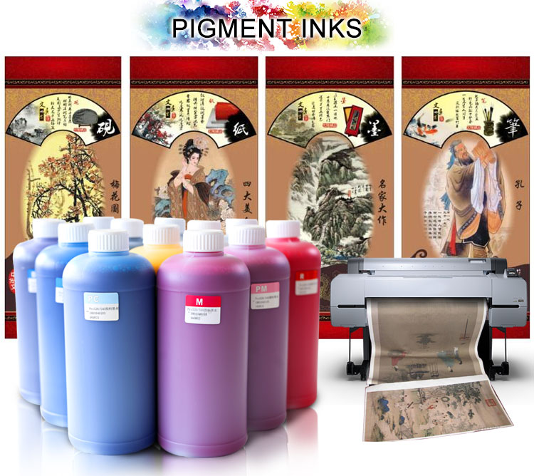 1000ML Per Bottle Universal Pigment Ink For Canon iPF 8000 9000 8300 8310 6300 6350  Inkjet Printer