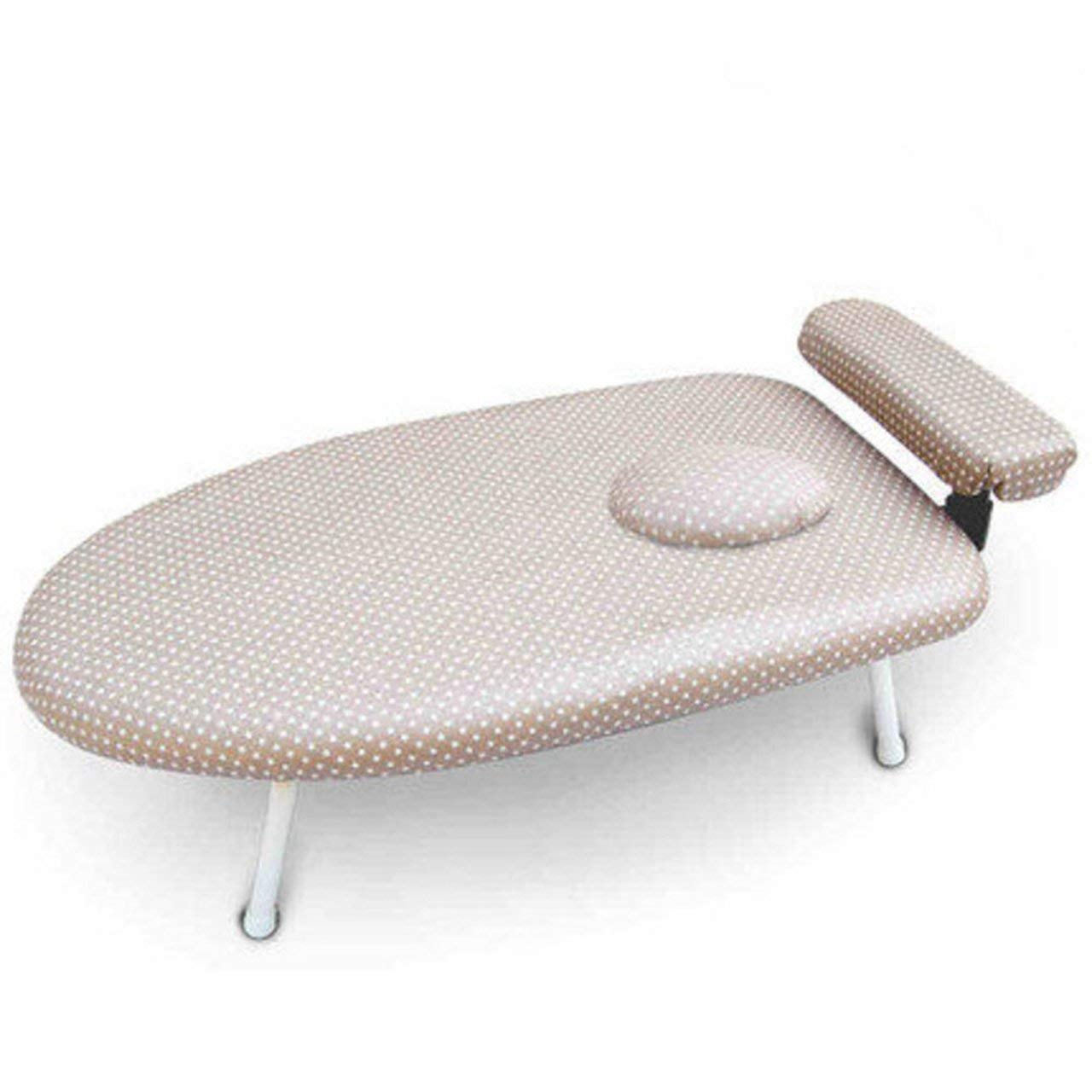 Get Quotations · Fun Life Table Top Ironing Board Extra Stable  Legs,Anti Focus Cover Foldable Small