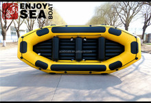 2016 HOT COLOR CE 10passengers 14feet sports water raft/self bailing inflatable river raft boat for sale