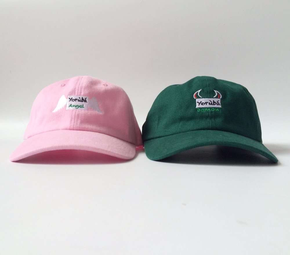 HOT Dad Hat party Baseball Cap DEMON ANGLE stitched Snapback Caps Exclusive  Release Hip Hop street Hats pink black gorras 853ceec2799