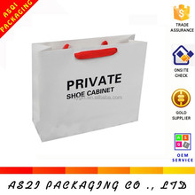 professional printed custom white shopping shoes carry bag with cotton handles
