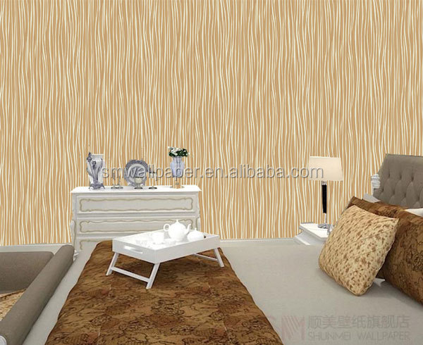 high quality pvc wall paper fabric backed wallpaper for project