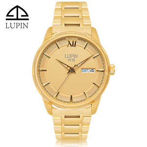 Best selling oem logo luxury brand automatic watches stainless steel golden watch men