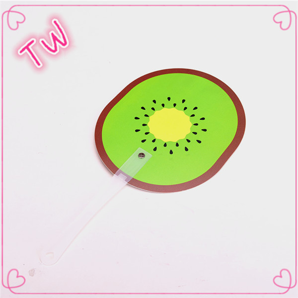 factory price Supply Moldova fashion different of PVC fruit shaped mini plastic hand fan for children