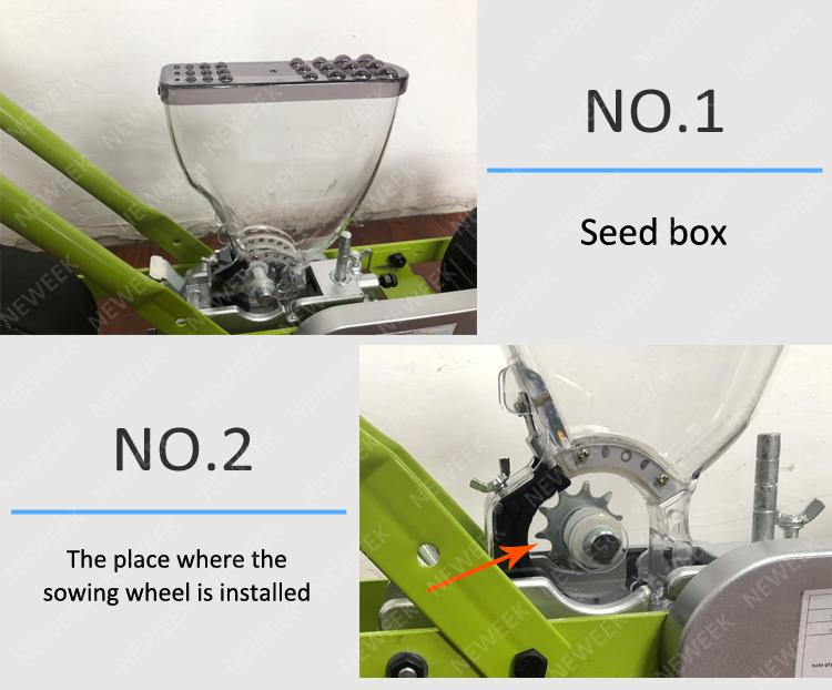 NEWEEK 4 linhas de semeadura de sementes de cenoura máquina de plantio de beterraba brócolis