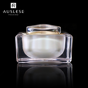 High quality Acrylic square cream jar 30g