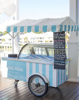 XSFLG Italy style popsicle ice cream vintage cart