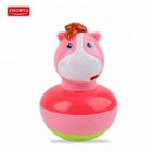Baby horse hand rattle music bell exercise hearing tumbler toy for selling