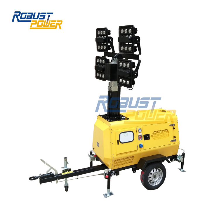 Diesel Generator Light Tower 4x480W LED Mounted Telescopic Lights