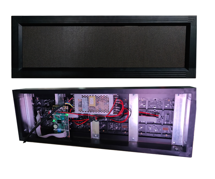 Indoor P2.5mm 640*160mm scrolling moving led display sign programmable led display board panel signage
