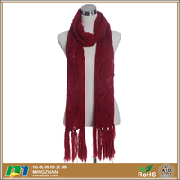 Lady Gorgeous Winter Warm Lattice Pattern Acrylic Knitted Scarf ...