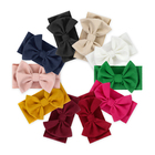 Baby girl big bow hair accessories various color elastic headband for kids handmade baby headbands