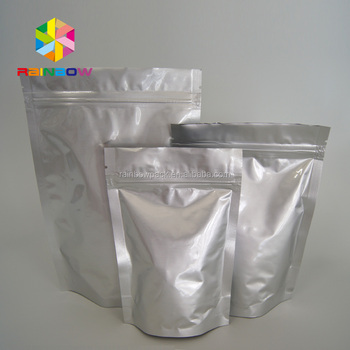 Reusable Aluminum Foil Doypack Packet Food Grade Mylar Bag With Zipper Agricultural Seed Packaging