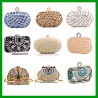 High Quality Italian stylish Diamond women purse evening clutch bags with crystal