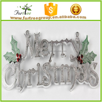 unique silver joy merry christmas hanging letter decoration and ornament