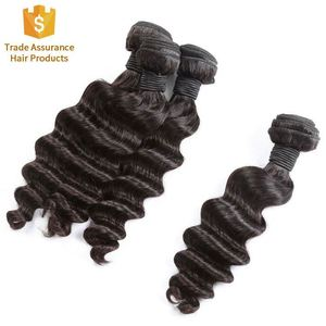 Trade Assurance Virgin Cuticle Aligned Virgin Human Hair 8a 9a Brazilian Deep Wave