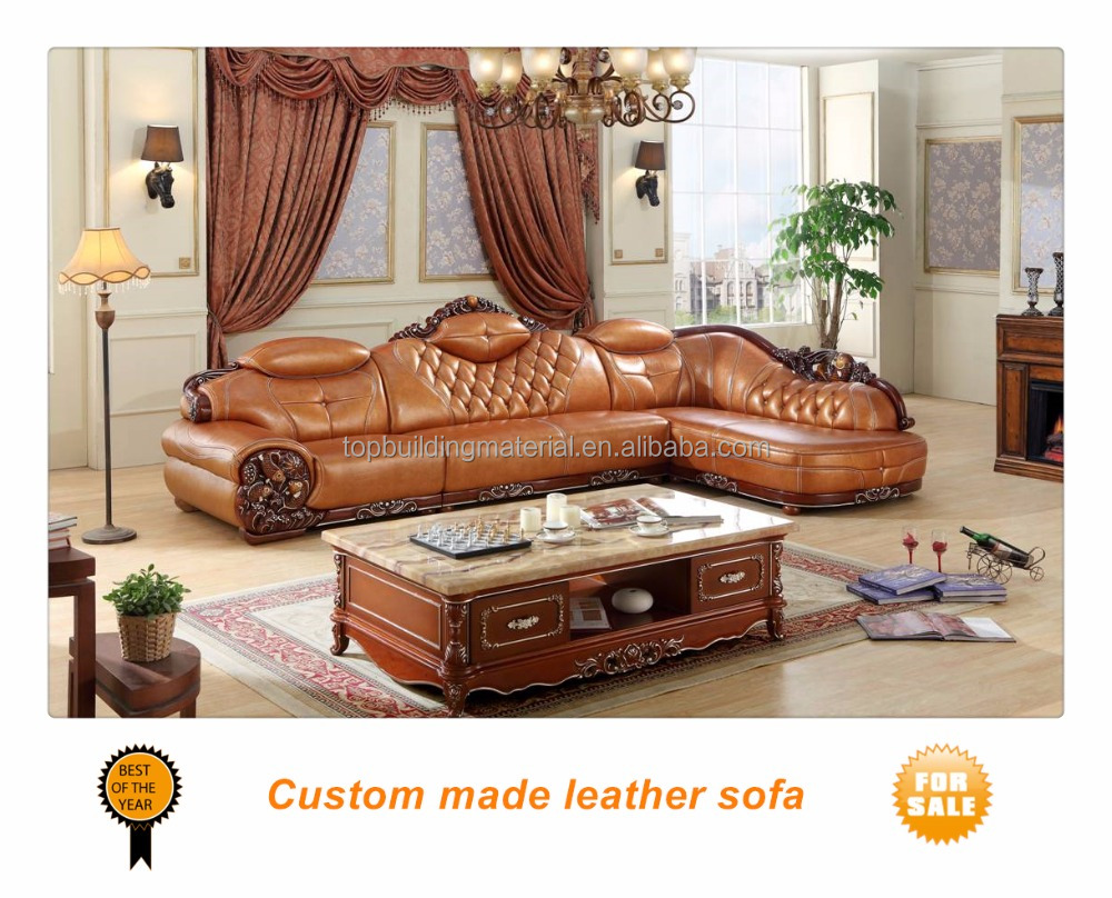 American corner sofa set used genuine leather left corner sofa
