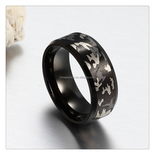 2017 China Factory Custom Black Plated cheap wholesale men stainless steel ring Jewelry JDR068
