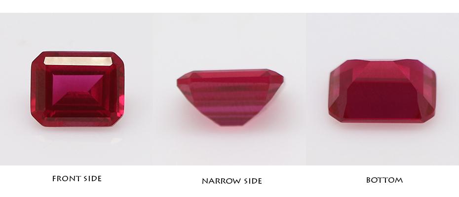Emerald Cut Dark Red Ruby Industrial Synthetic Ruby Stone Prices Per Carat  Gemstone Ruby - Buy Synthetic Ruby Stone Prices,Synthetic Ruby Stone,Ruby