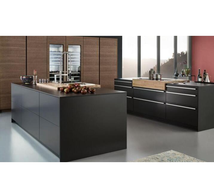 Hot-sell black lacquer kitchen cabients