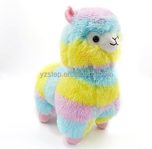 Rainbow Alpaca Sheep Baby Plush Toy Stuffed Animal