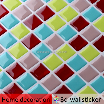 New design home decoration pieces small square tile for kitchen background wall mosaic