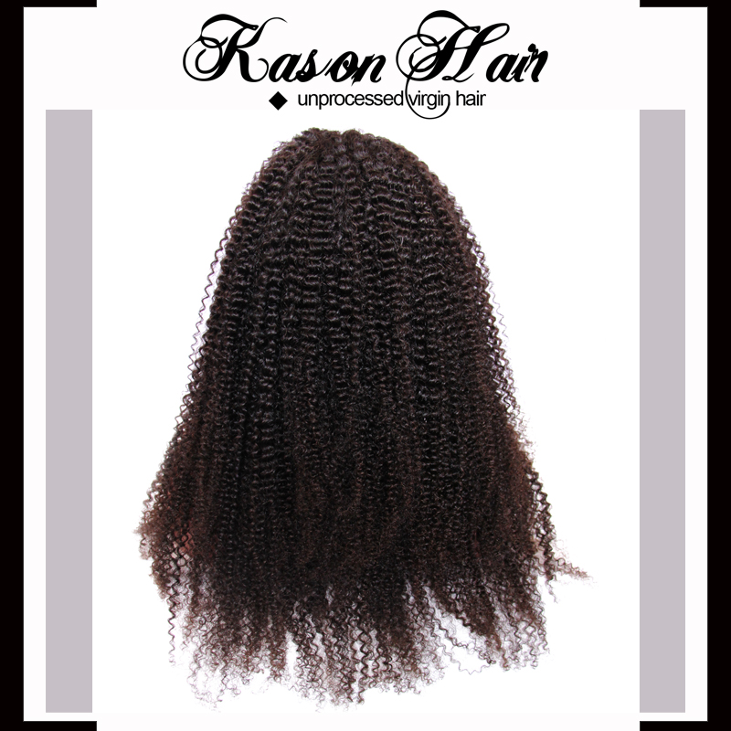 Full Lace Wig Type Afro Kinky Human Hair Wig Long Hair Sex Women ...