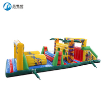 Customized inflatable outdoor jungle obstacle couse for game