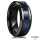 Blue Black Celtic Dragon Men's Tungsten Carbide Ring Wedding Band Jewelry Size 4-15