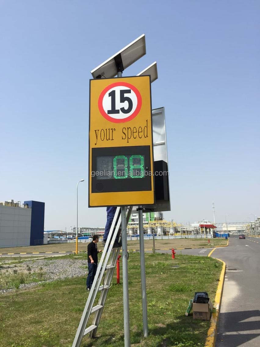 Customized size high quality radar led flashing speed limit sign safety road signs