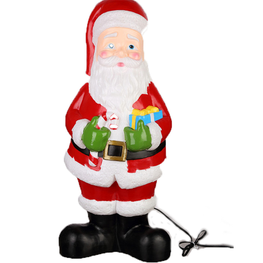 2018 high quality christmas decoration blow mold lighted outdoor plastic santa claus - Outdoor Plastic Lighted Christmas Decorations
