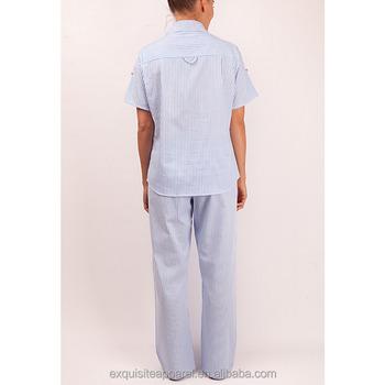 Ladies 100% Soft Cotton Stripe Casual Pyjama Sets Wholesale - Buy ... 31c8a09ee