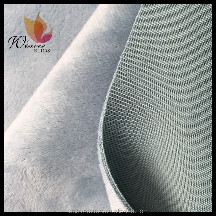 3D air kintting fabric bonded Super soft short plush for garments