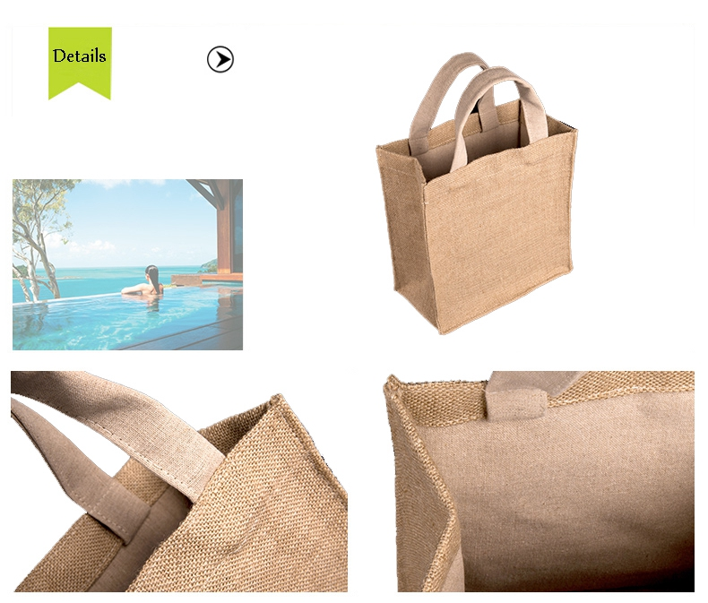 Multifunctional jute bag with low price