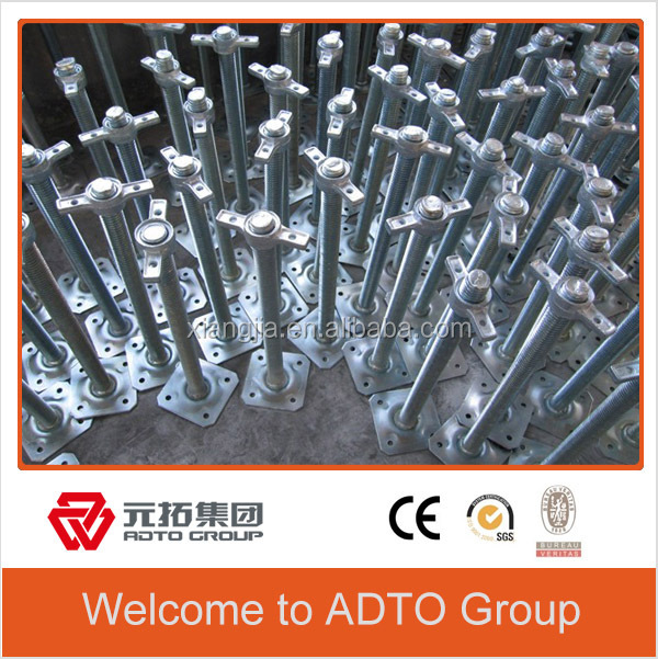 Durable pipe adjustable screw jack base manufacturer made in china for africa