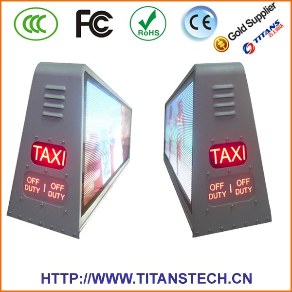 New technology Transparent Screen taxi video advertising screen,Taxi Top LED Display,LED Taxi Roof Signs
