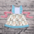 Rabbit Printing Flutter Sleeves Sky Blue Little Girl Clothes Set Easter Icing Ruffle Boutique Kids Clothes Set