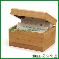 Multifunction bamboo office memo box and storage container