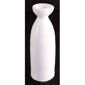 Happy Sales HSSB-WHL02, White Porcelain Sake Bottle 8 oz