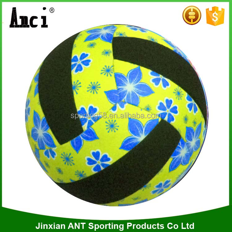 Official Size Five yellow color SBR, sporting ball, christmas gifts, Neoprene sandy, promotional items, beach volleyball